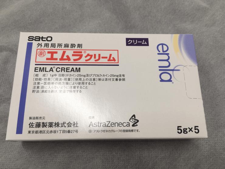 メンズリゼの表皮麻酔のクリームの箱