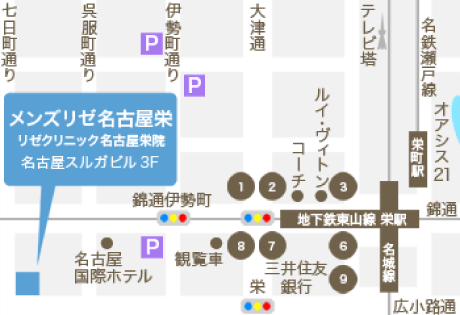 MEN'S RIZE(メンズリゼ)名古屋の地図
