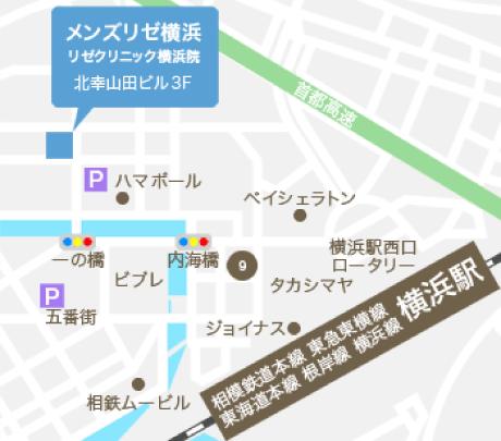 MEN'S RIZE(メンズリゼ)横浜までの地図